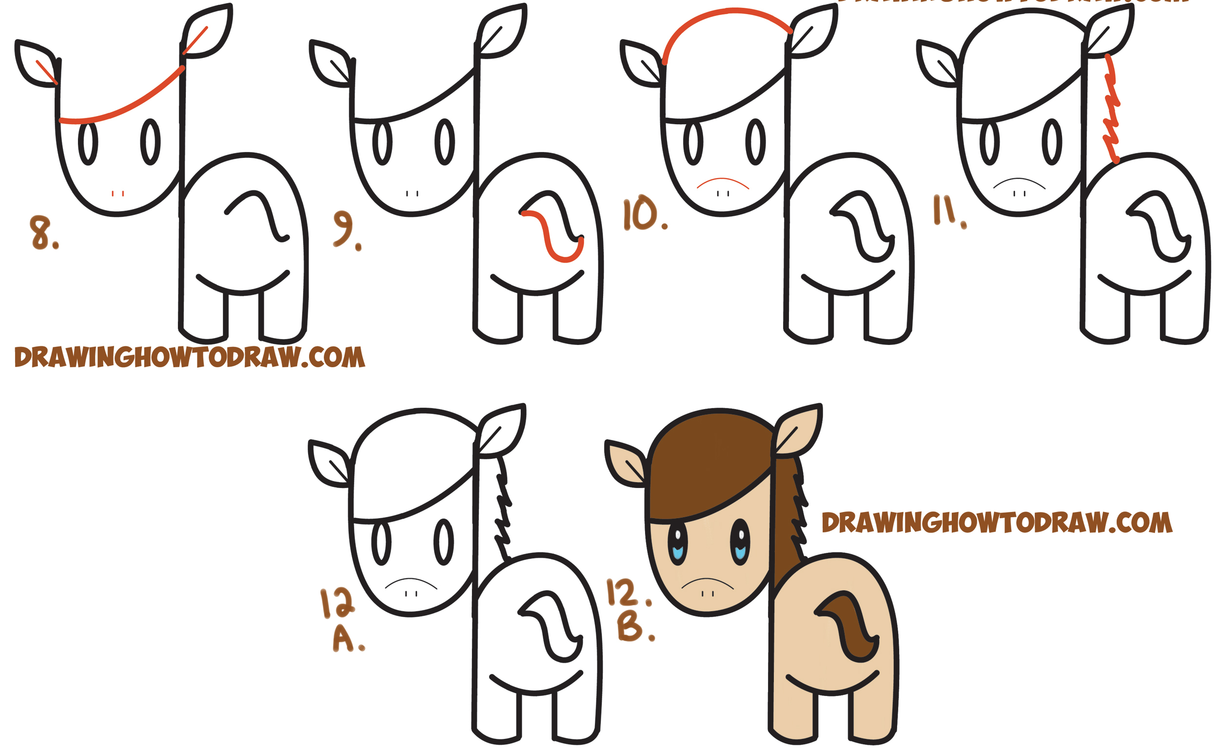 2500x1548 Cartoon Horse Drawing How To Draw A Cute Kawaii Chibi Horse
