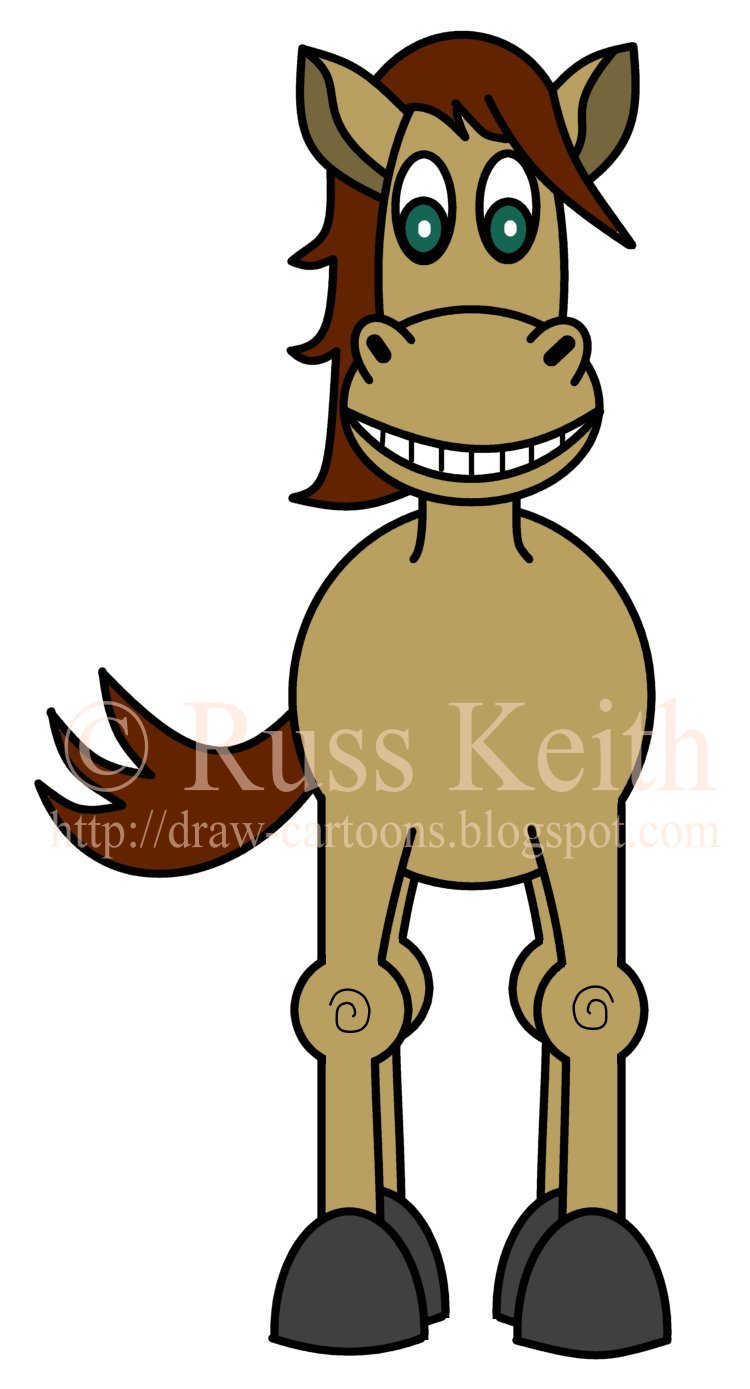 750x1389 How To Draw Cartoons Horse