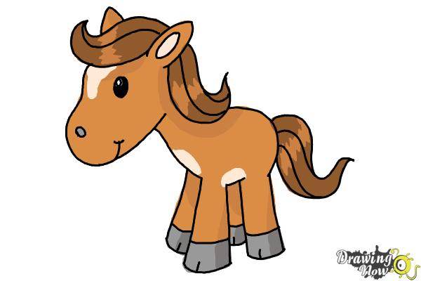 600x400 How To Draw A Horse For Kids (9 Easy Steps)