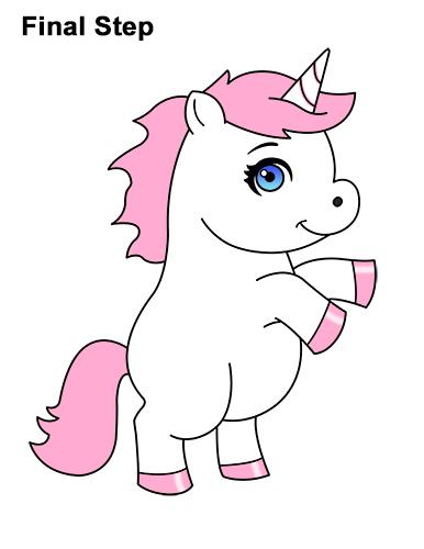 386x500 How To Draw A Unicorn (Cartoon)