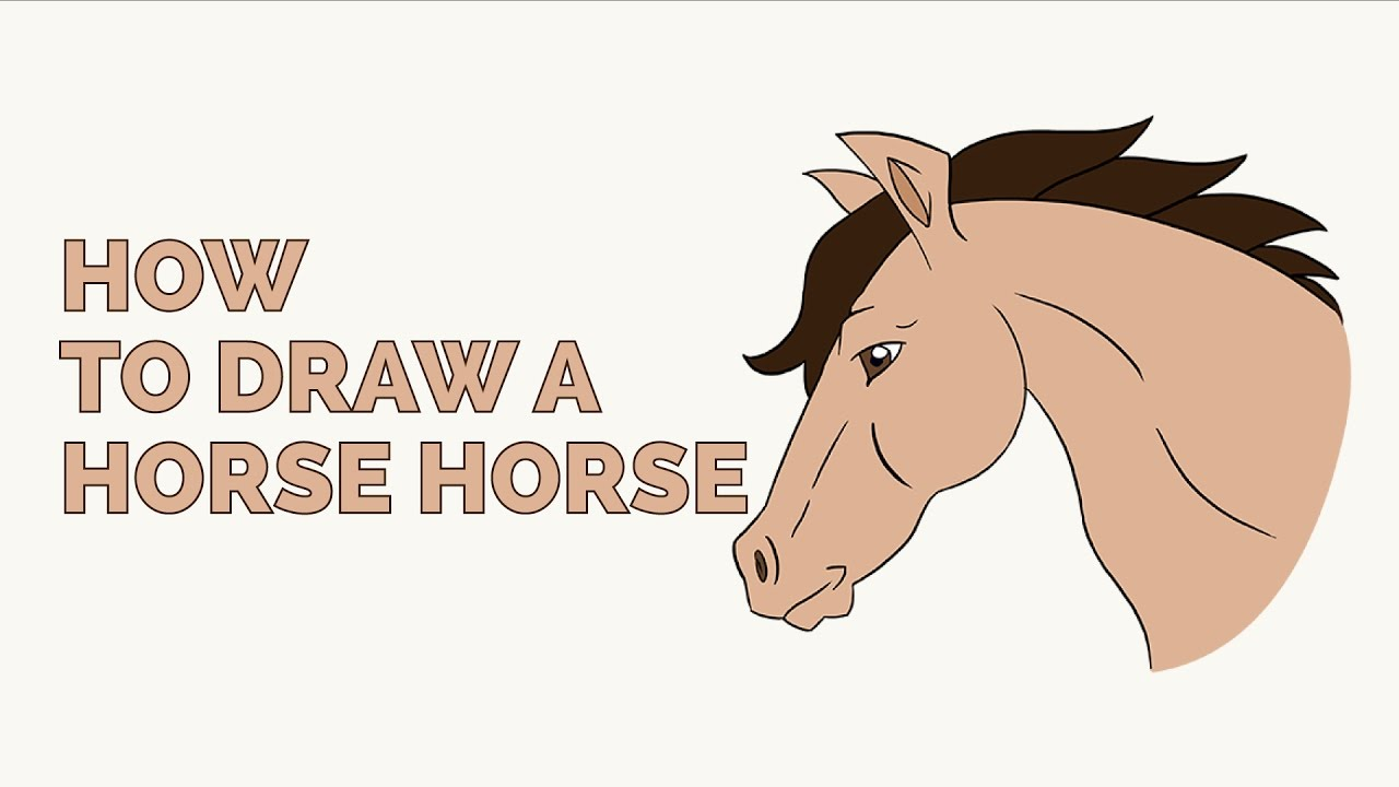 1280x720 How To Draw A Horse Head In A Few Easy Steps Drawing Tutorial