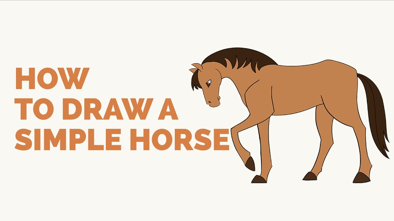 1280x720 How To Draw A Simple Horse