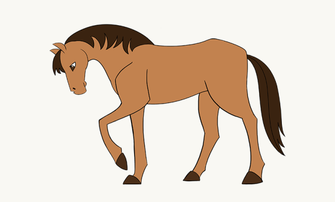 662x400 how to draw a simple horse easy and simple guide drawing guide