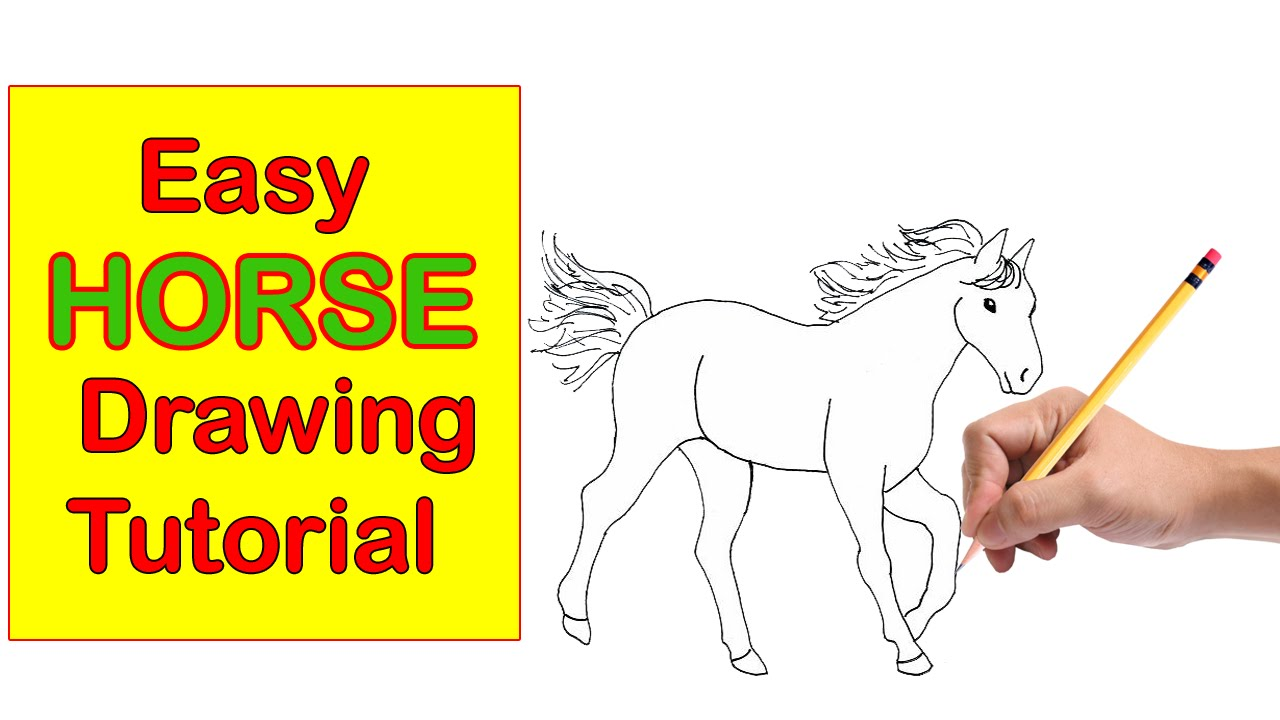 1280x720 Horse Drawing Tutorial Step By Step Easy, Quick And Simple