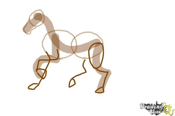 600x400 How To Draw A Horse Step By Step