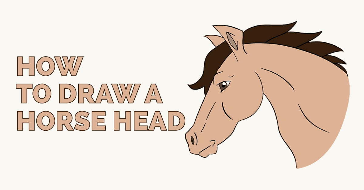 1200x628 How To Draw A Horse's Head Easy Drawing Guides