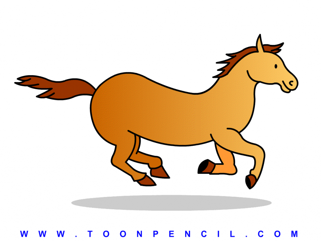 1024x767 How Draw A Horse For Kids Horse Drawing For Kids With How