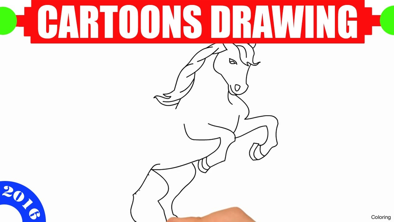 1280x720 Horse Drawing For Kids Coloring How To Draw Step By Tutorial 11f