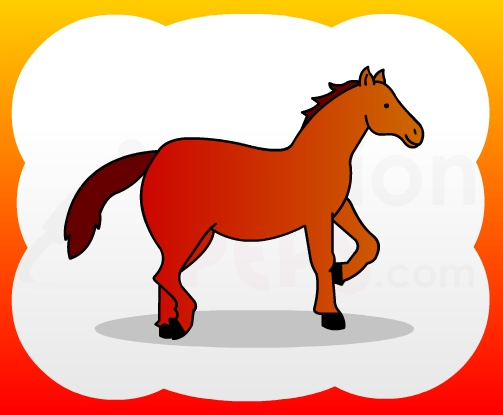 503x415 How2draw4kids How To Draw Horse (Standing) For Kids