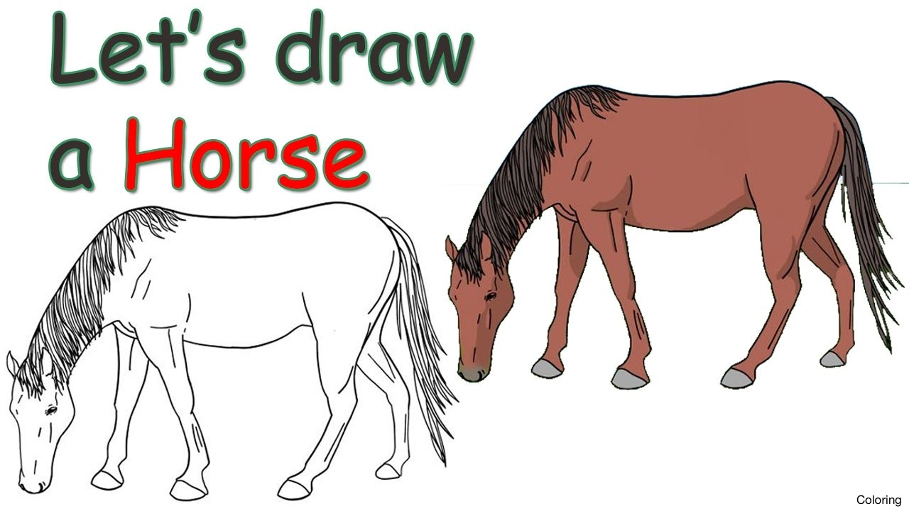 1280x720 Maxresdefault Horse Drawing For Kids Coloring How To Draw