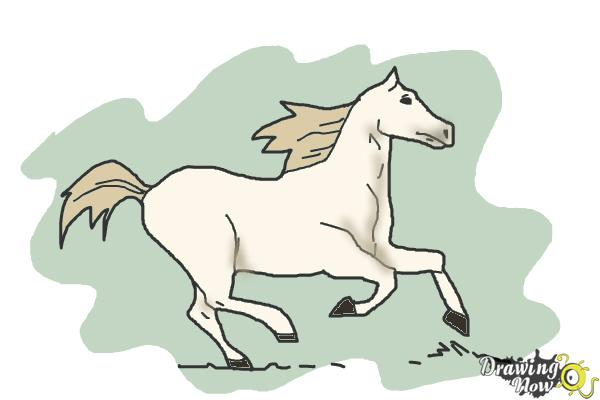 600x400 How To Draw A Horse Running