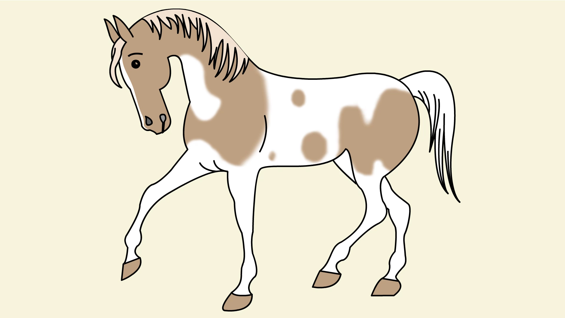 1920x1080 How To Draw A Simple Horse 11 Steps (With Pictures)