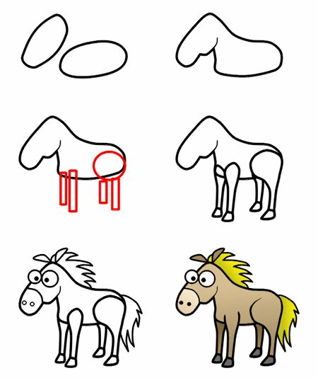 450x534 Draw A Horse Kids Drawing Tutorials Amp Coloring
