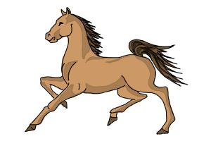 300x200 How To Draw A Horse Step By Step