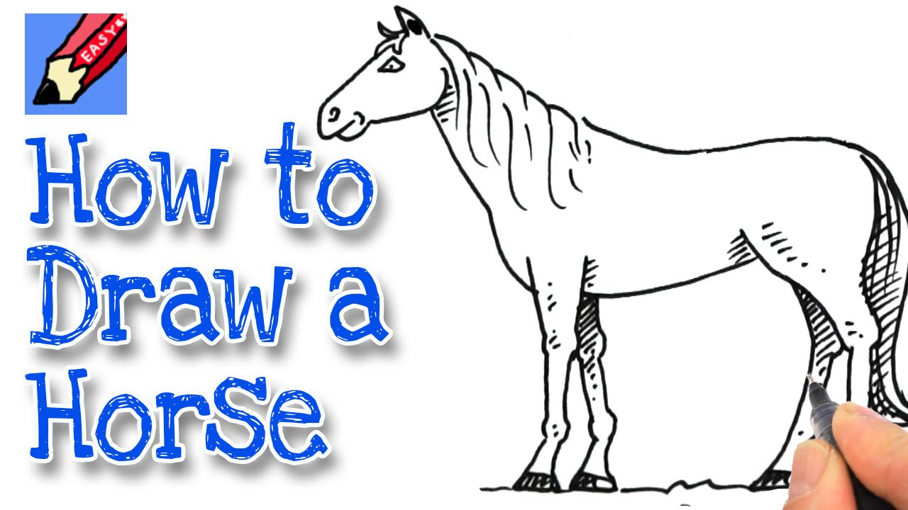1280x720 How To Draw A Horse Real Easy Twist Horse, Drawing