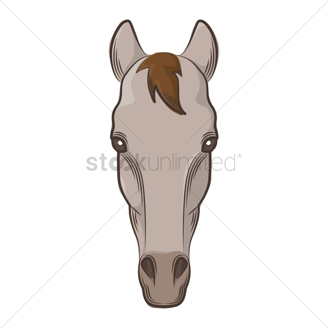 1300x1300 Horse Face Vector Image