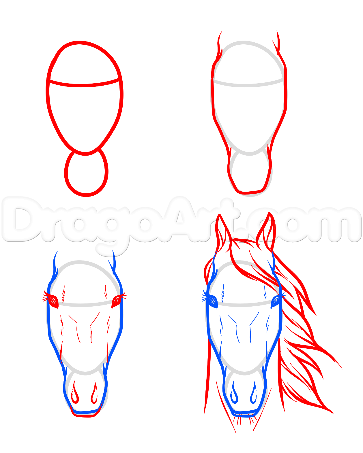 1258x1572 Draw Horse Heads And Faces Step 7 Carving Horse