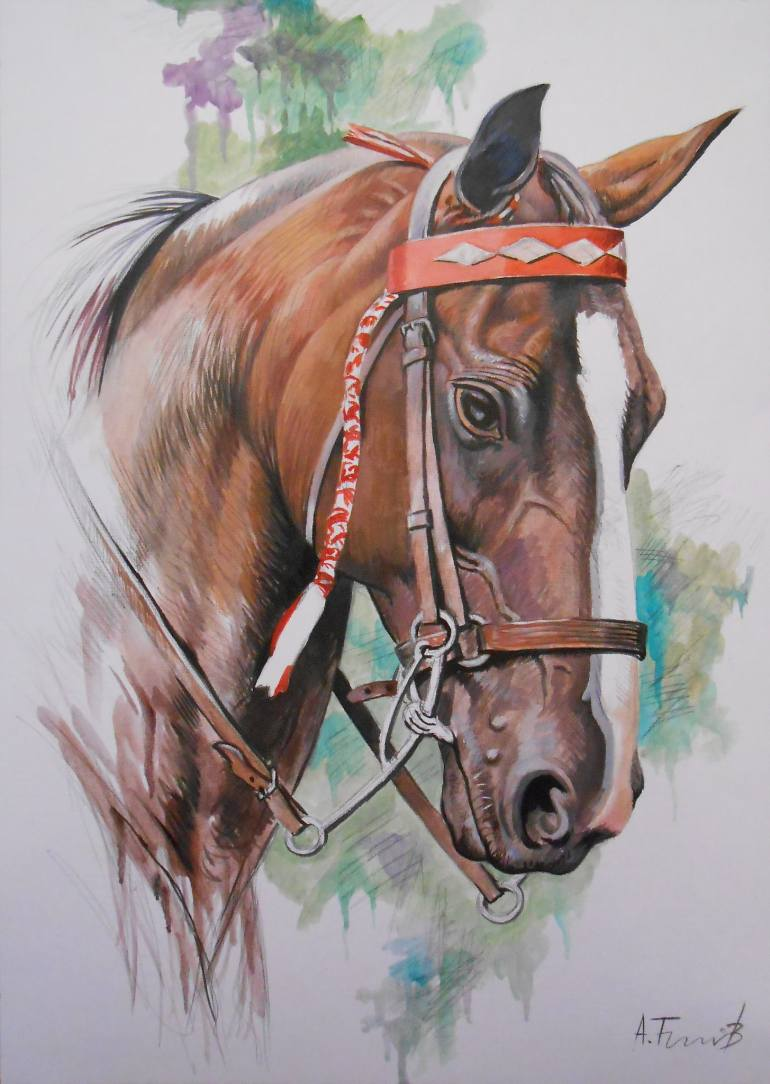 770x1084 Saatchi Art Horse Head Drawing By Alexander Titorenkov
