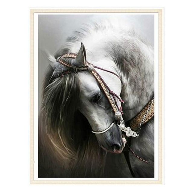 640x640 Square Drill Diy 5d Diamond Painting Horse Head Drawing Diamond