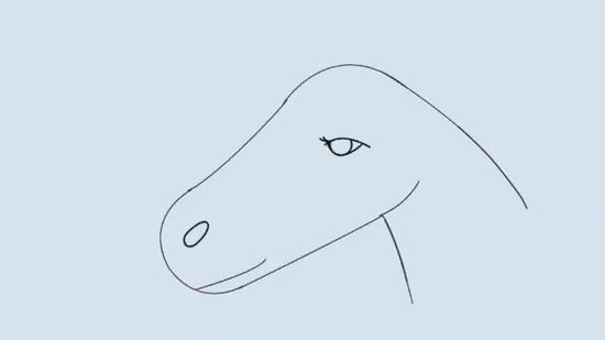 550x309 How To Draw A Horse Head 15 Steps (With Pictures)