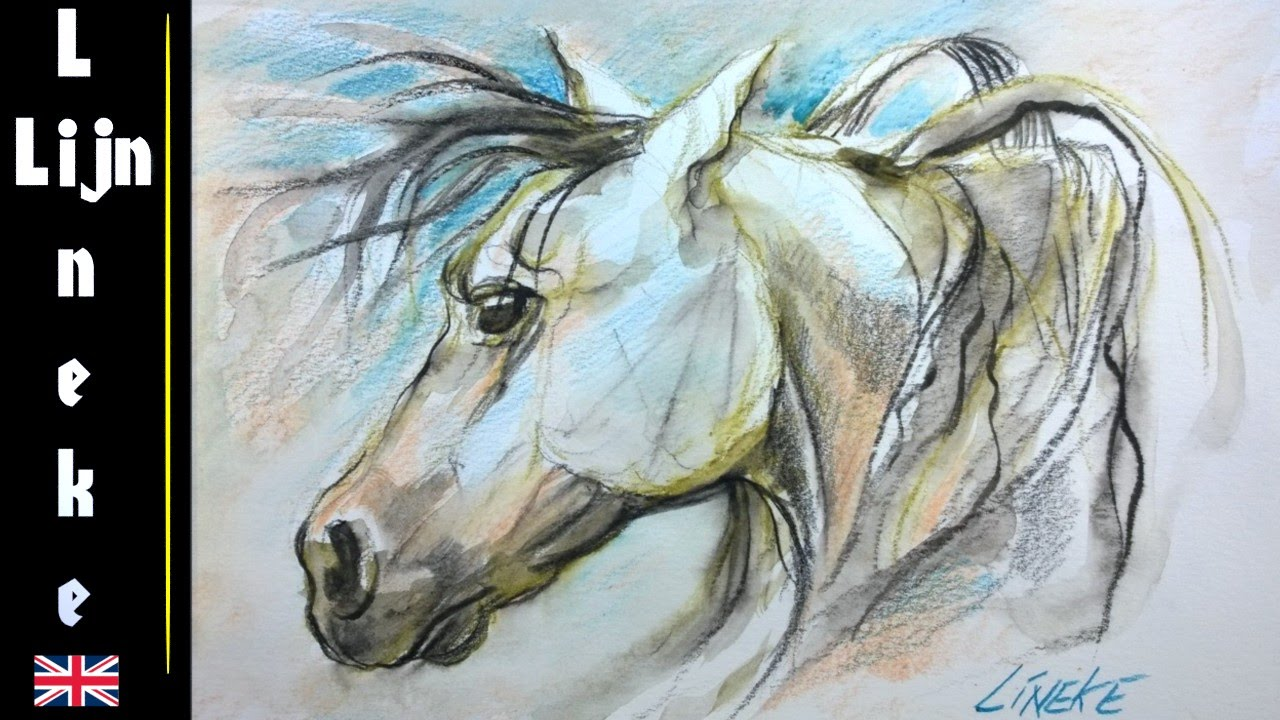 1280x720 Drawing A Horse Head With Water Color Pencils Easy Tutorial