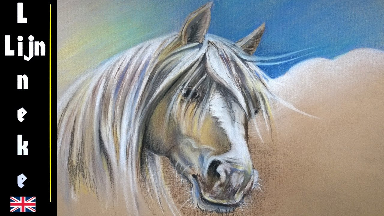 1280x720 How To Draw A Palomino Horse Head With Pastel Pencils Easy