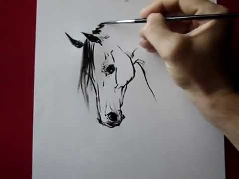 480x360 How To Draw A Horse Head Ink ) By Tora
