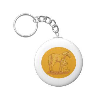 324x324 Horse Drawing Key Rings Amp Horse Drawing Key Ring Designs Zazzle
