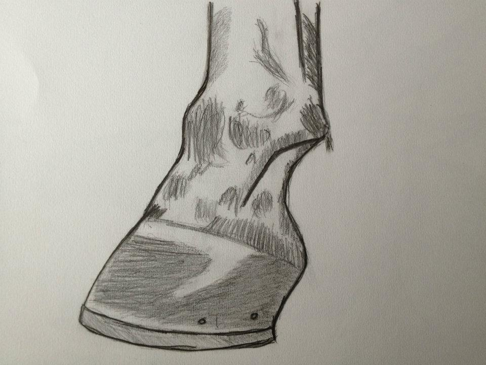 960x720 Horse Hoofleg Sketch By Grizzdesigns