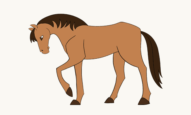 662x400 Pictures Horse Drawings Easy To Draw,