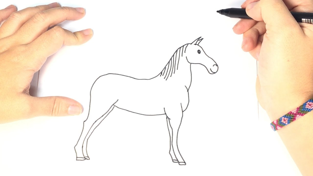 1280x720 How To Draw A Horse For Kids