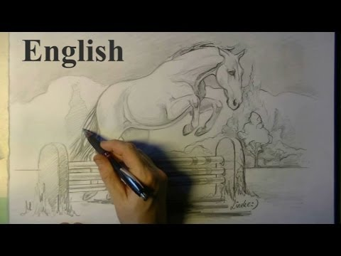 480x360 Drawing A Jumping Horse And Fence