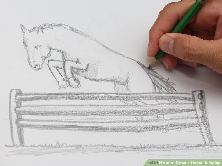 728x546 How To Draw A Horse Jumping 12 Steps (With Pictures)