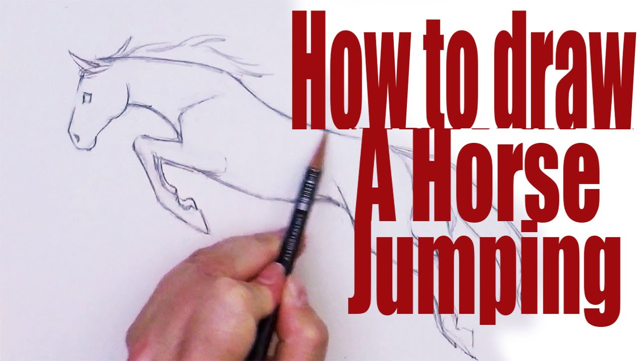 1280x720 How To Draw A Horse Jumping