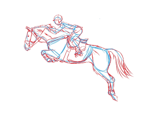 499x414 Framed Drawings Of Horses