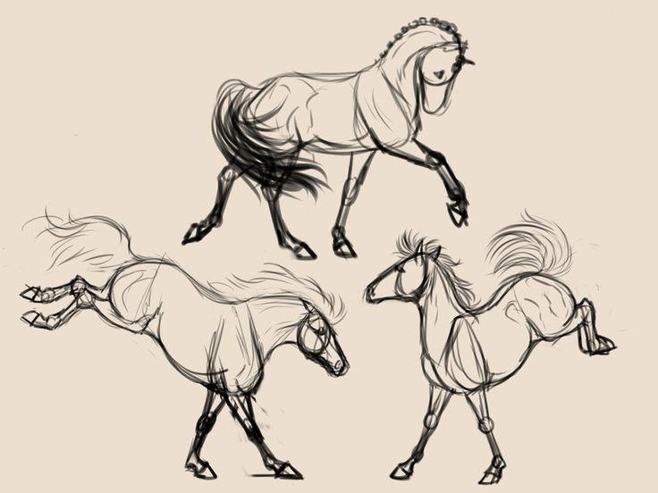 736x552 Jump Down Horse Sketch