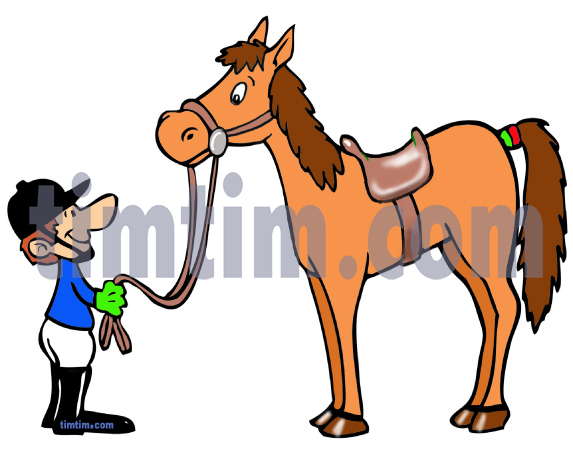 573x458 Free Drawing Of Horse And Rider From The Category Farm Animals
