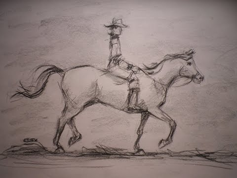 480x360 How To Draw A Horse And Rider