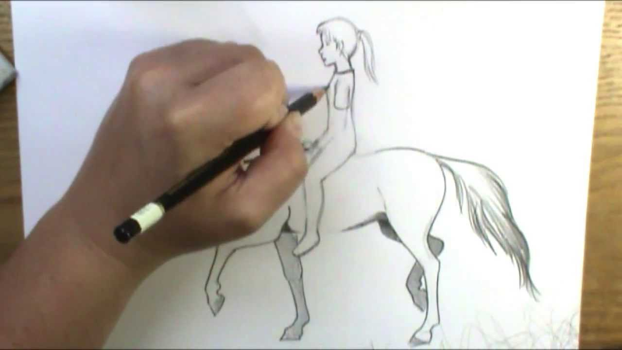 1280x720 How To Draw A Horse And Rider Bareback