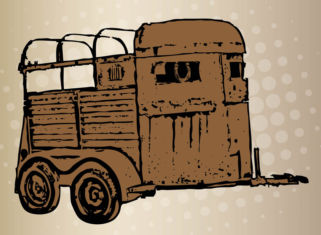 1024x750 Horse Trailer Illustration