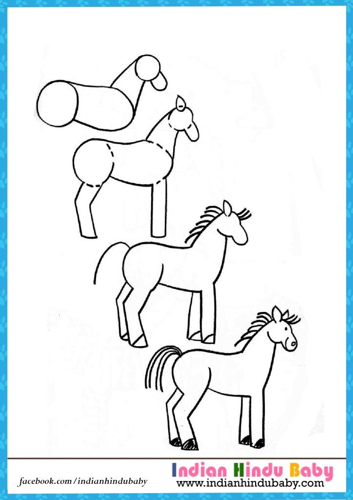 724x1024 horse drawing for kids leversetdujour info
