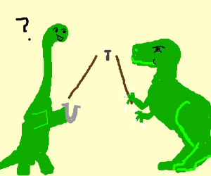 300x250 Dino Wants To Play Horseshoes (Drawing By Emberkit)