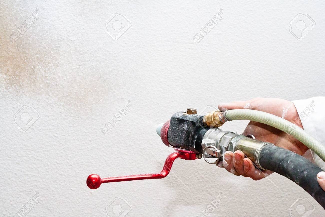 1300x866 Hose And Crane Machines For Air Drawing Putty Stock Photo, Picture