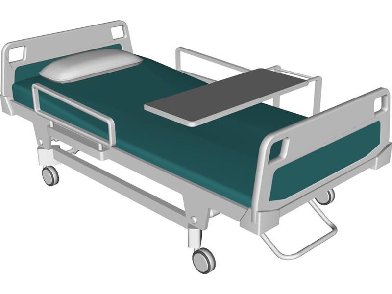 800x600 Hospital Bed 3d Model Hospital Beds Hospital Bed