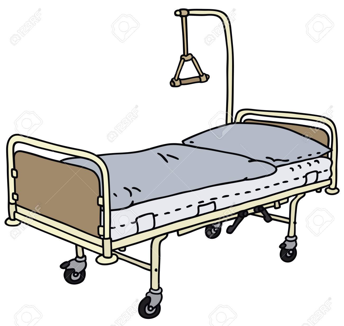 1300x1235 Hand Drawing Of A Hospital Bed Royalty Free Cliparts, Vectors,