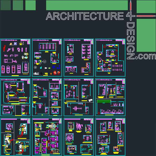 600x600 Hospital Furniture For Autocad (Dwg File) Architecture For Design