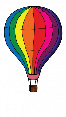 215x382 How To Draw Hot Air Balloon, Items, Easy Step By Step Drawing Tutorial