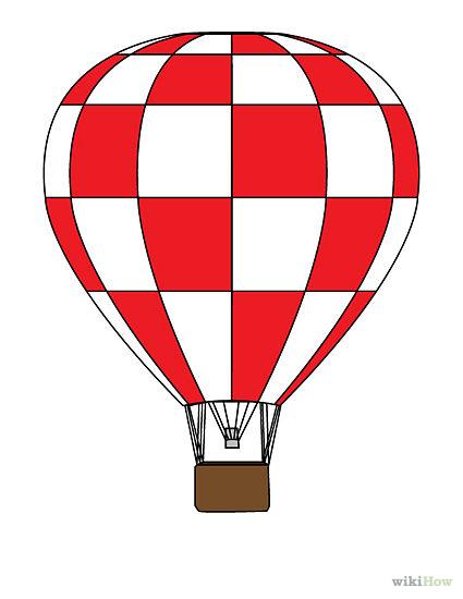 425x550 Hot Air Balloon Drawing