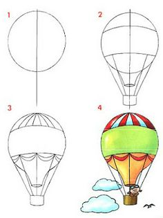 236x315 Hot Air Balloon Printable Digital Images From Birds Cards