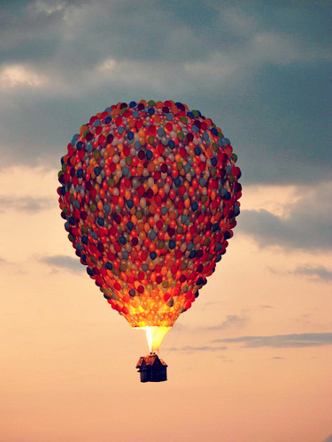 375x500 Balloon, Clouds, Color, Colorful, Disney, Disney Movies, Glow, Hot